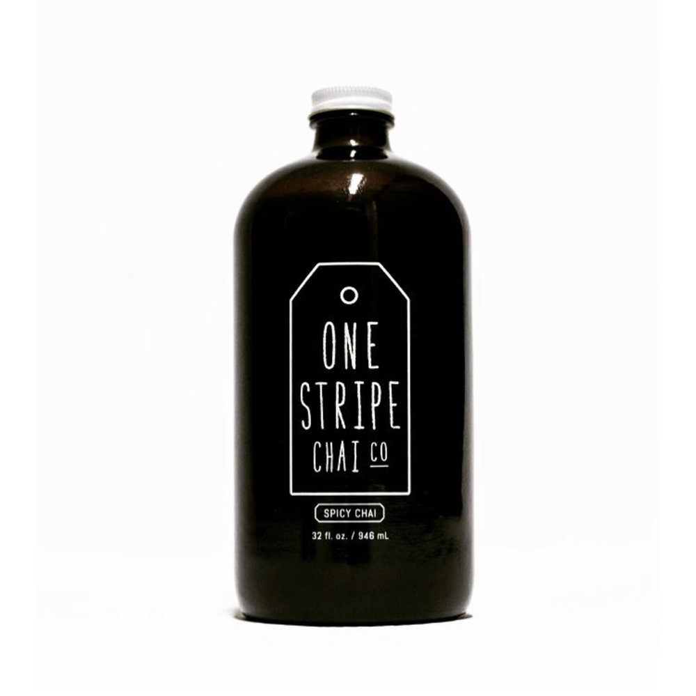 One Stripe Chai Co.   - There is a LOT of shitty chai in the world. One Stripe Chai's concentrate is appropriately spicy, sweet and rich. Also, Farah is wonderful. Drink better chai, a motto.