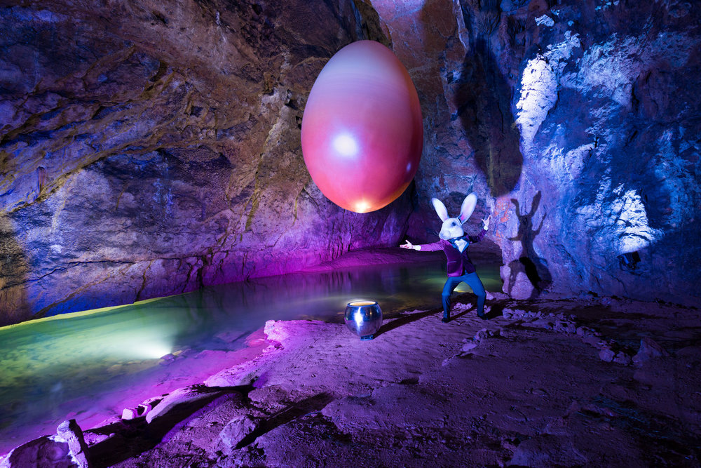 Photographed in the limestone caves at Wookey Hole