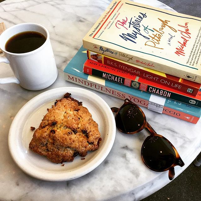 This is why I've tried (and evidently failed) to avoid bookstores lately. 🙈 • • • #bookshop #booksofinstagram #booklife #currentlyreading #coffeeshop #coffeetime #sundayvibes #booksandcoffee #coffeeaddict #bookaddict #shoplocal #portlandmaine #mainething