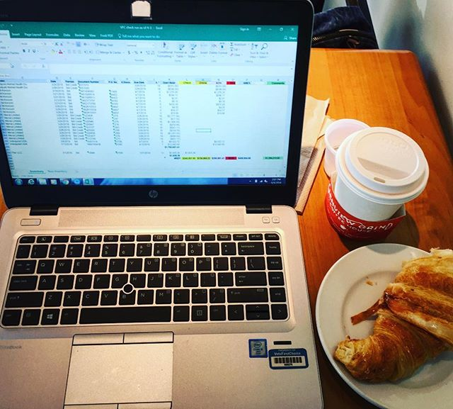 When working from home gets to the point where you're so stir-crazy you can't even stand it so you relocate to the local coffee shop and treat yo'self to a snickerdoodle latte because you can. 😆 • • • #coffeeshop #shoplocal #workfromhome #coffeetime #coffeeaddict #spreadsheets #treatyoself #itsthelittlethings