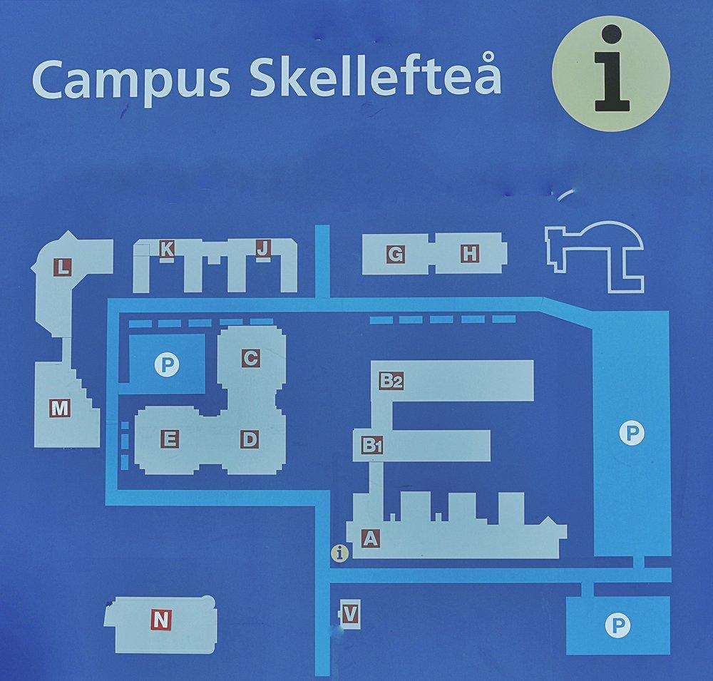Budynki VUX mieśzcząsię na terenie kampusu studenckiego, tak więc codziennie z Konradem mamy zajęcia w tym samym miejscu. Ja biegam między G, D i E, a on ma swoje biuro w A. M to biblioteka a do L chodzimy na fikę :) Na kampus mamy 5 minut piechotą. Idealnie!