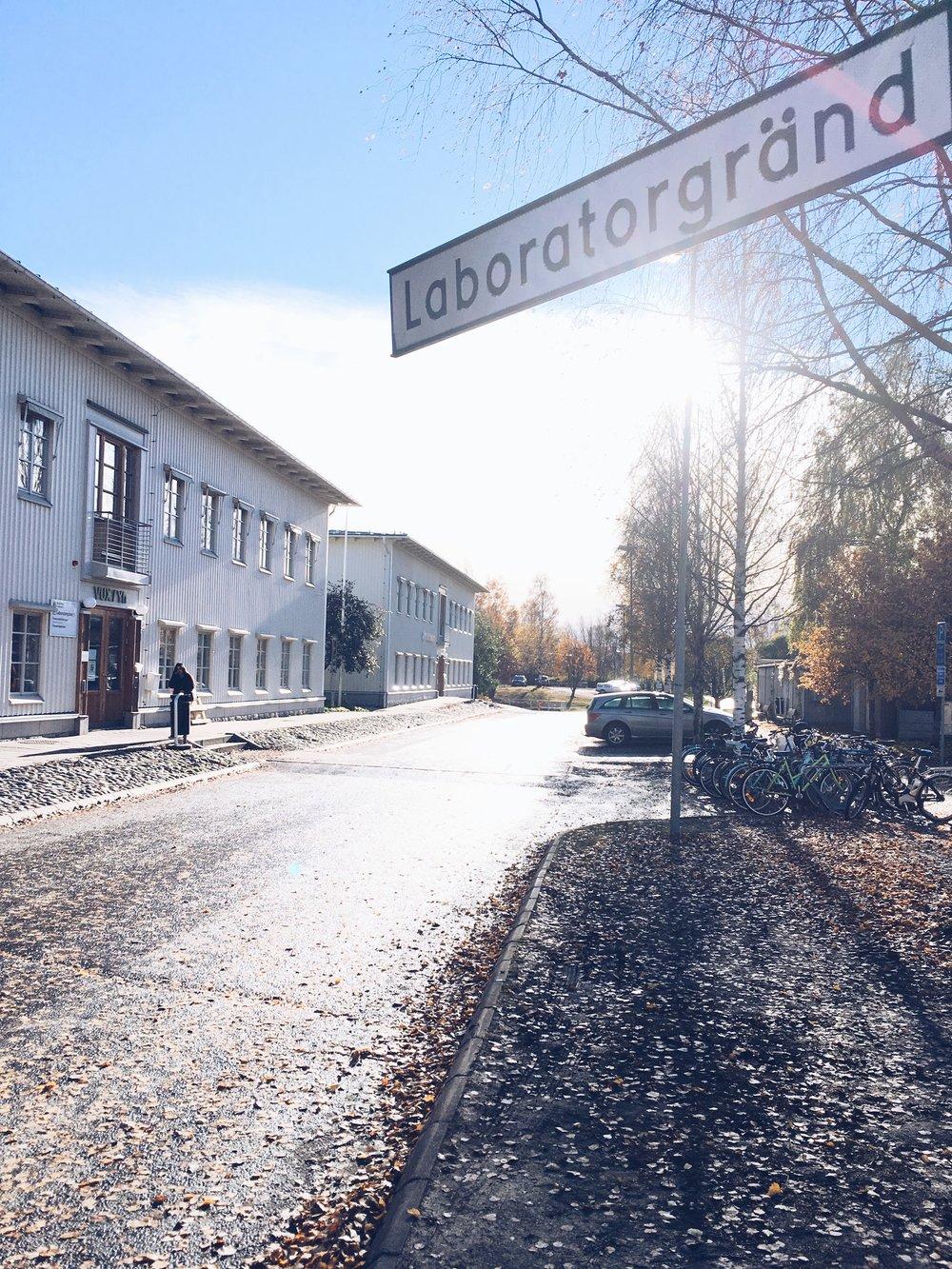 Główny budynek VUX (na mapie budynek G).