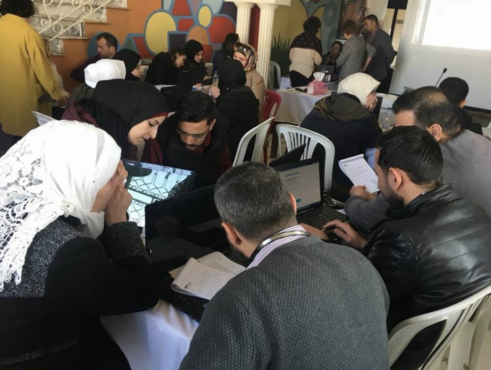 Workshop participants at the Teacher Professional Development MOOC