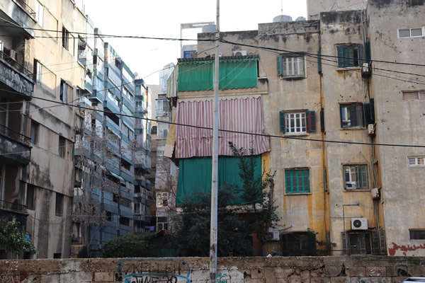 Apartment blocks in Hamra, Beirut , © Annelise Andersen