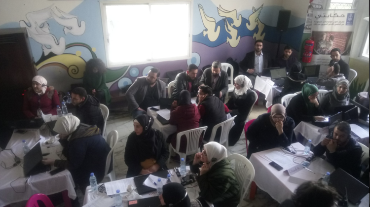 Participants at the  Teacher Professional Development MOOC  in the Bekaa Valley.