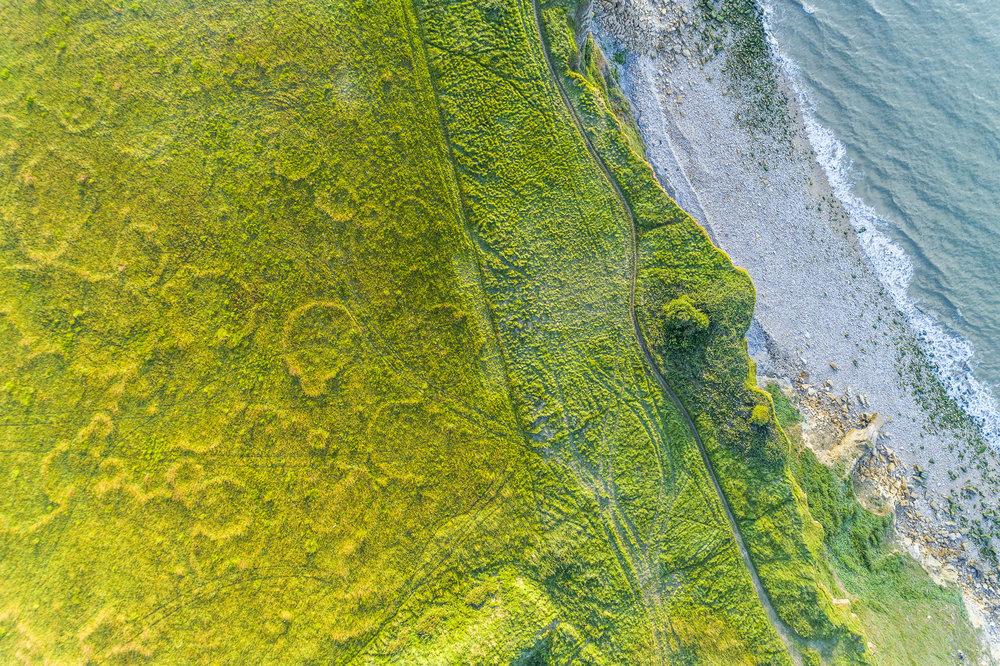 Photographie aérienne par drone en normandie