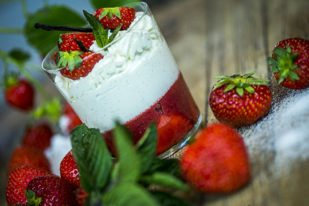 Les recettes - Verrine de fraises à la mascarpone
