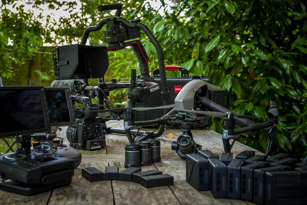 Préparatifs tournage video 4K RAW