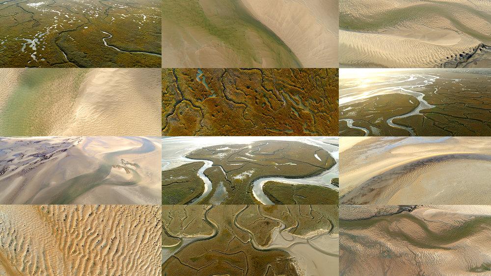 Quelques images tirées du tournage en 4K par drone au dessus des Havres du Cotentin…