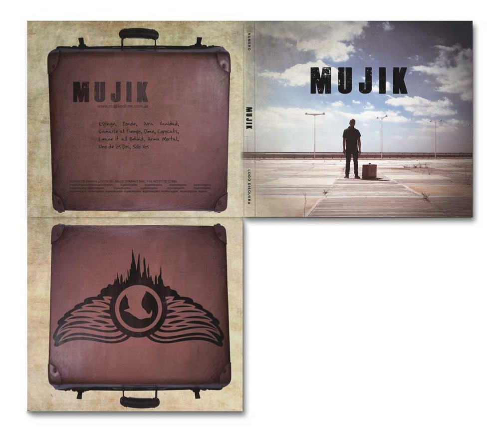 CD digipack and Dropcards Mujik