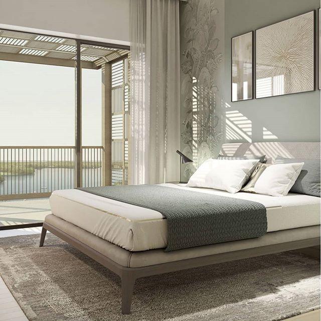 A cosy bedroom for a good night's sleep 💤  www.a2plusgreen.com  #wearehuman #wearea2plus #architecture #architecturelovers #architectureporn #interiordesign #human #sustainable #love #architettura #architect #architecturephotography #architectureview #dubai #dubaicreekbeach #bedroom #bedroomdesign