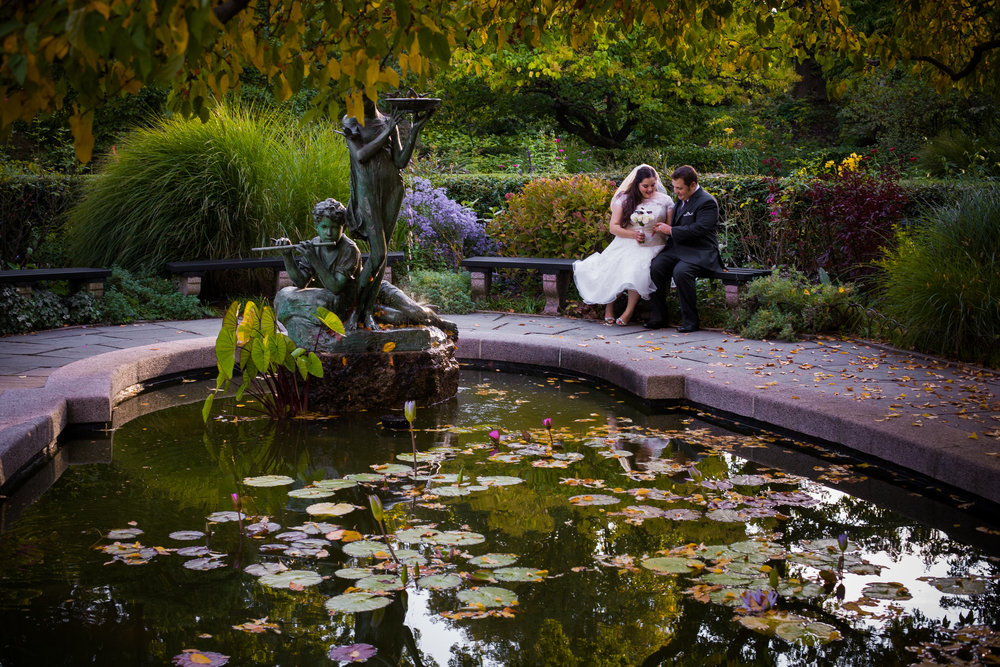 Some snuggles alone by the lily pond, Conservatory Gardens. Photo by  Kamila Harris Photography.