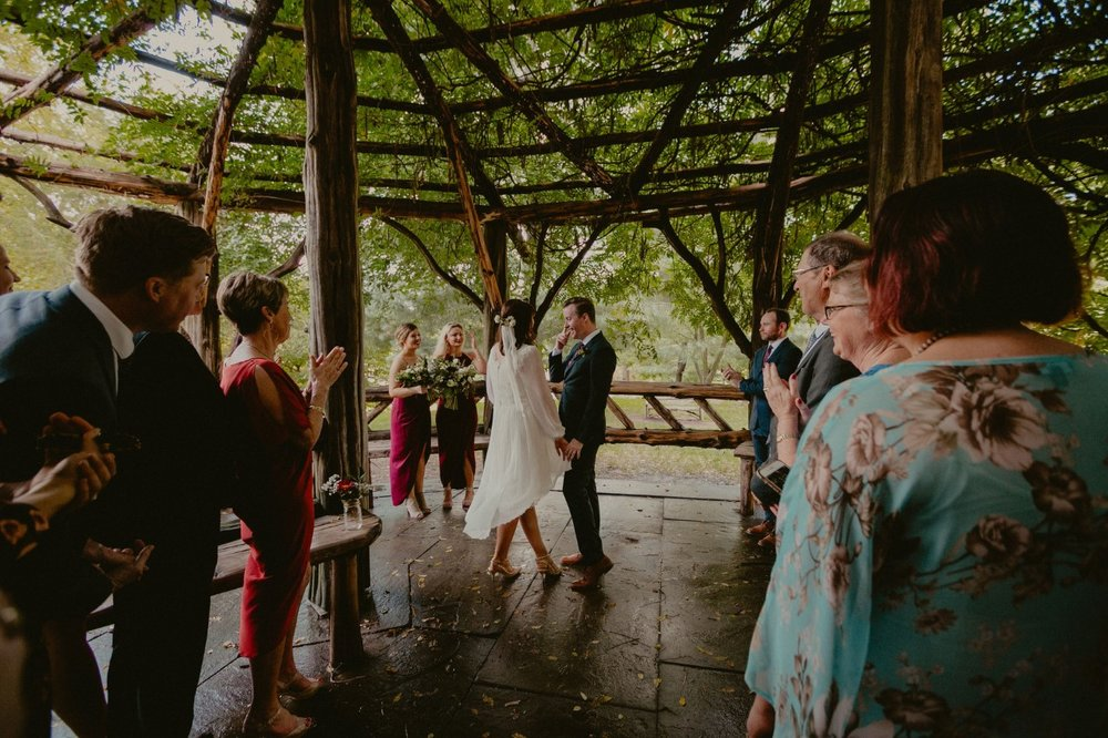 A teary realization that it's officially official. Photo by  Chellise Michael Photography.