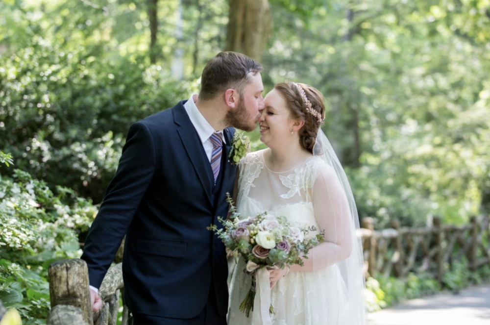 Just eloped in Shakespeare's Garden! Photo by  Kristy May.