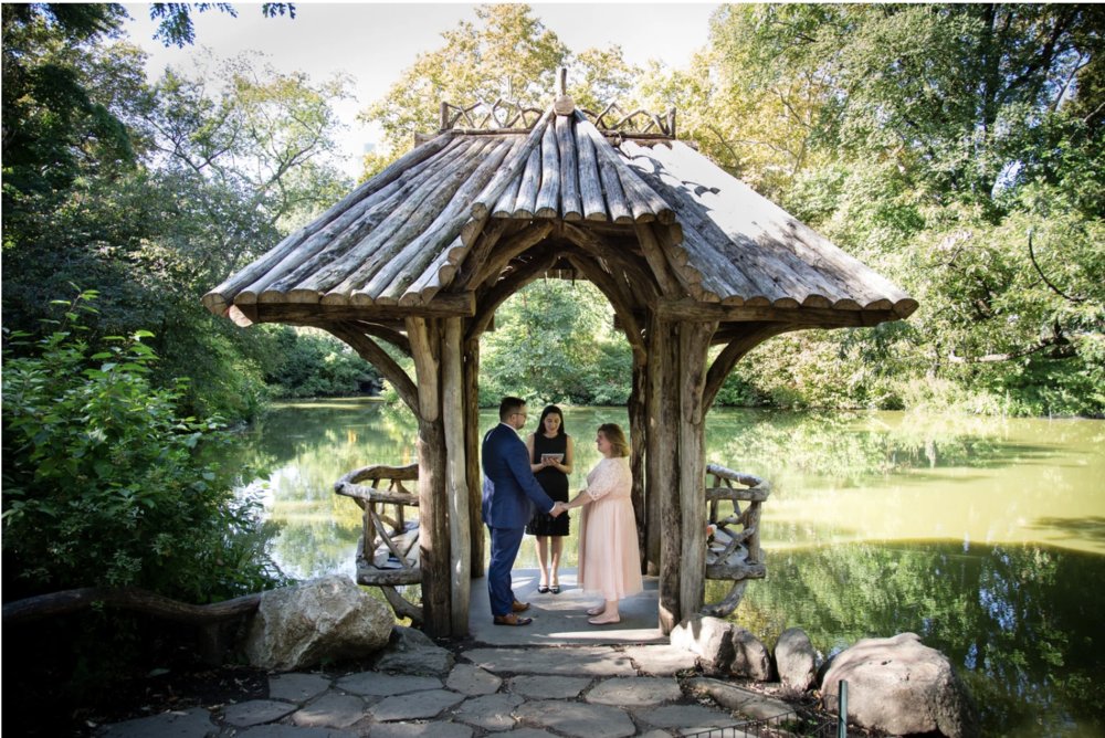 All the way from Amsterdam, these two soulmates made it official at Wagner Cove on an afternoon in September. Photo by  Kristy May .