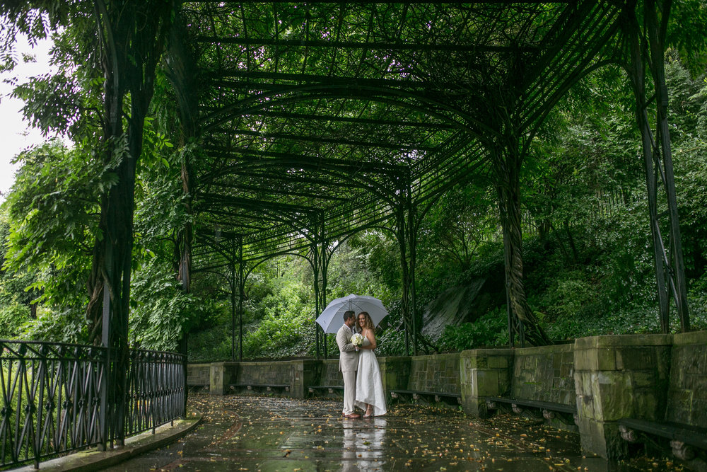 Staying dry under the wisteria pergola. Photo by  Amber Marlow.