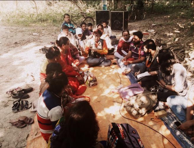 Samabhabona's Group at Baruipur, Disucssing Law, Advocacy and Rights.