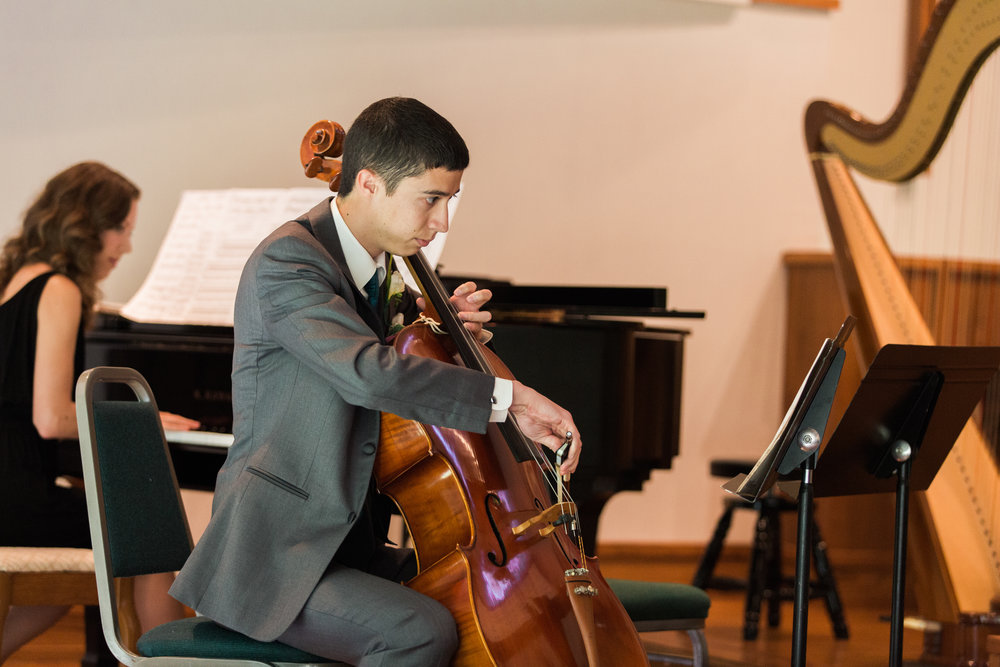 Playing my cello at my sister's wedding