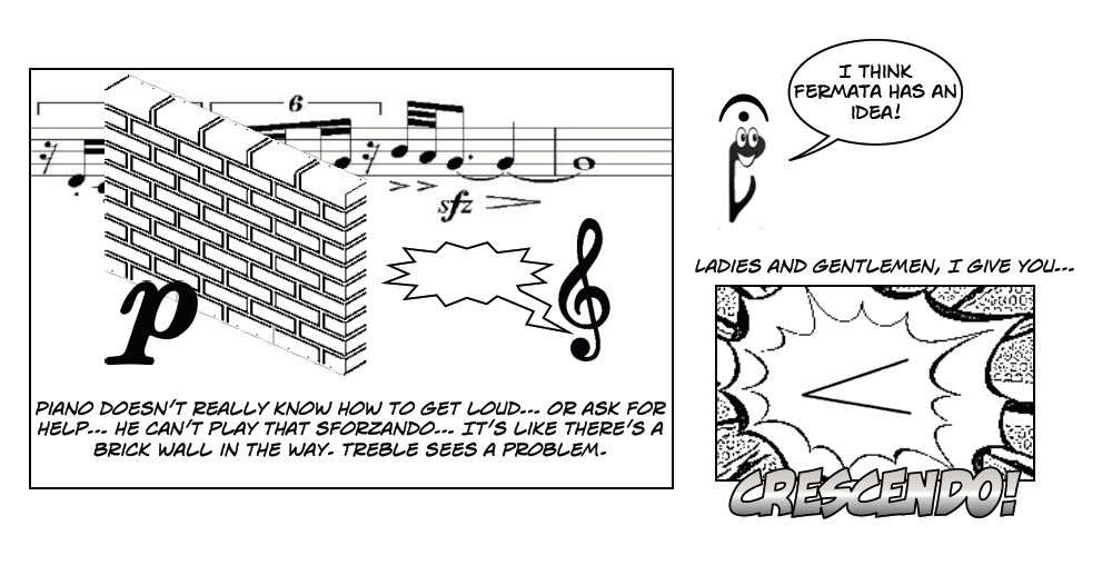 """In Tune"" comic by PRYDE Scholar Lily McGovern for Jennifer Agan's class"