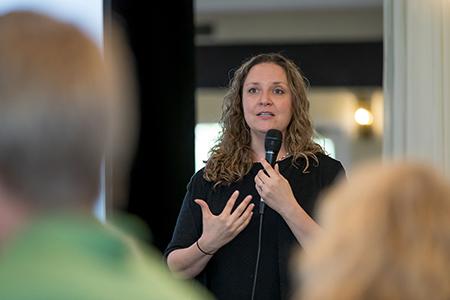 Laura Tach presenting