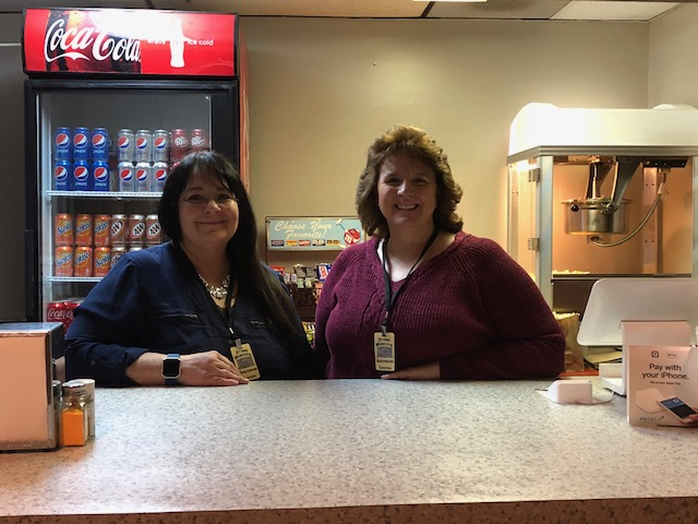 Concessions volunteers Kelly Raby and Donna Ferguson