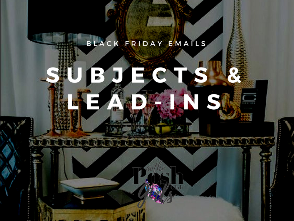 Need Email Subjects this week? - It's Not Too Late! Black Friday week is here and you still have time to get these email sequences together! Get my free download to help you!!Grab your copy below!