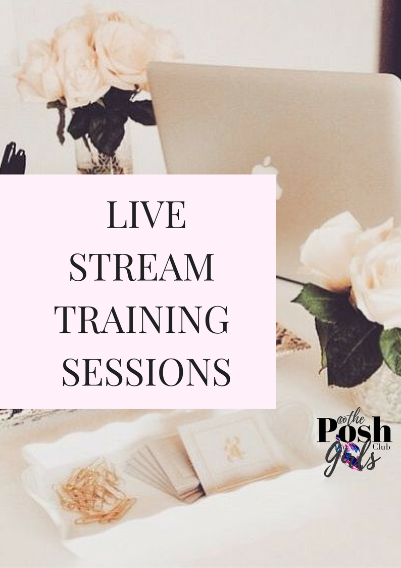 Ready to learn how to go live? - Email me with your preferred date and time for your session...let's get you ready to go live and be boss about it... diamondgirl@poshgirlsclub.com