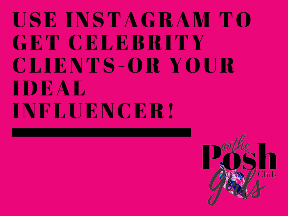 BONUS content! Grab my Celebs & Influencers ebook for 50% off! You are the only ones to receive this offer!