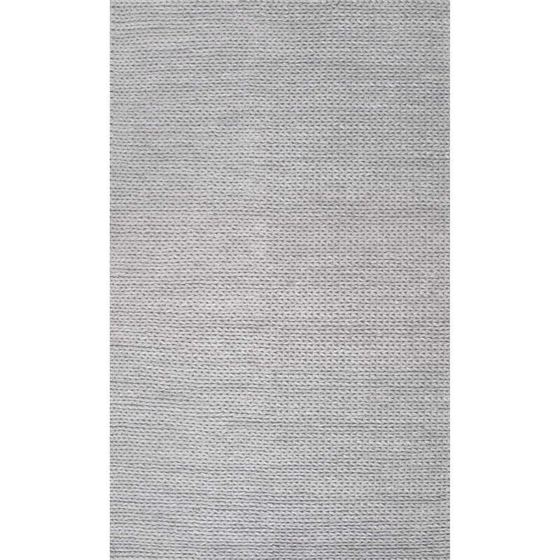 Touchstone Woolen Cable Hand-Woven Light Gray Area Rug3.jpg