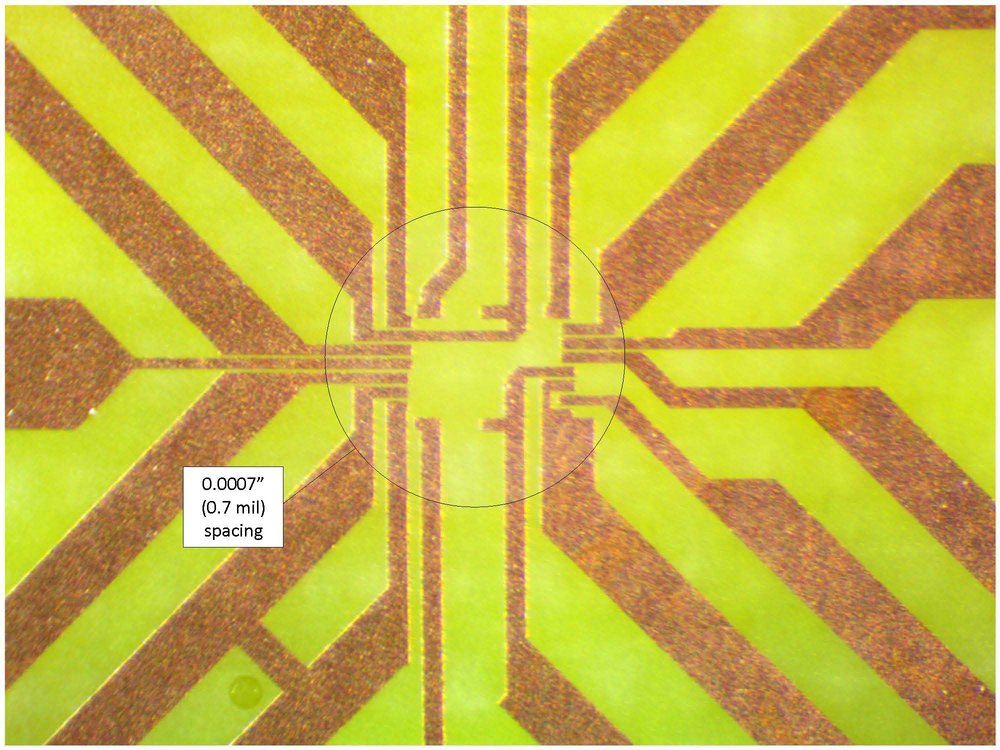 - Mil-Tech Customer |  Flip chip application |    15 micron spacing