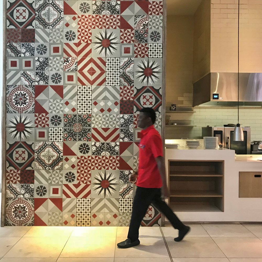 All that fabulous tile is made in Haiti