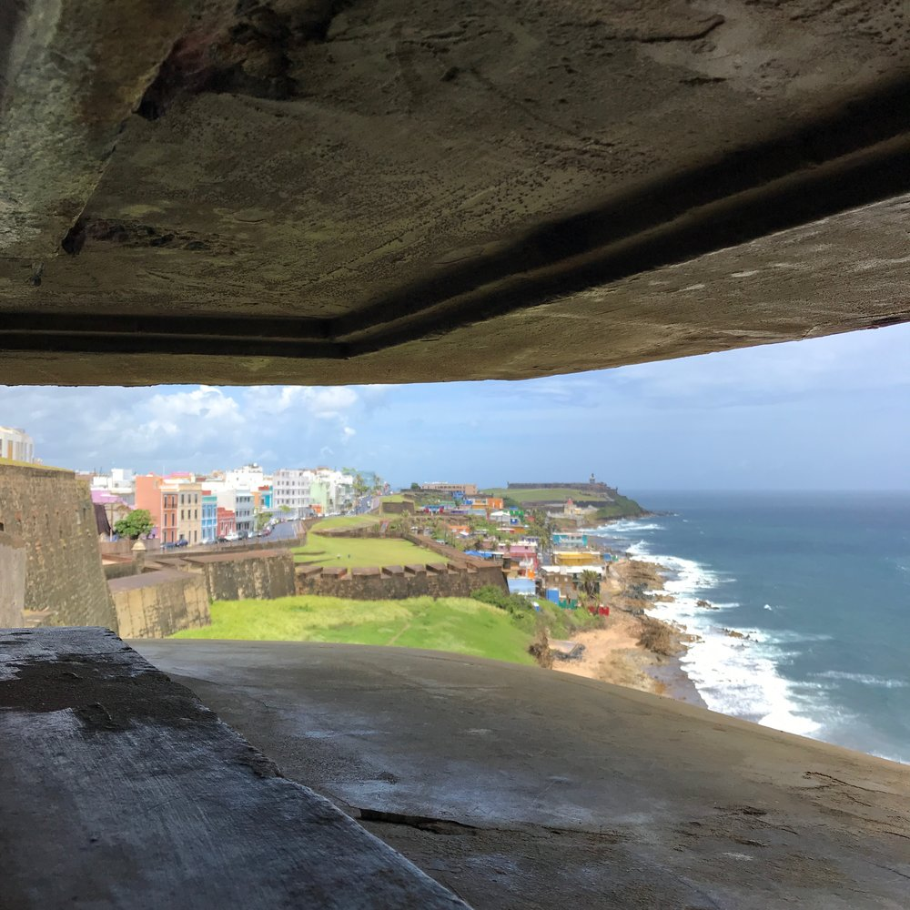 Old San Juan, as seen from the fort at San Cristóbal