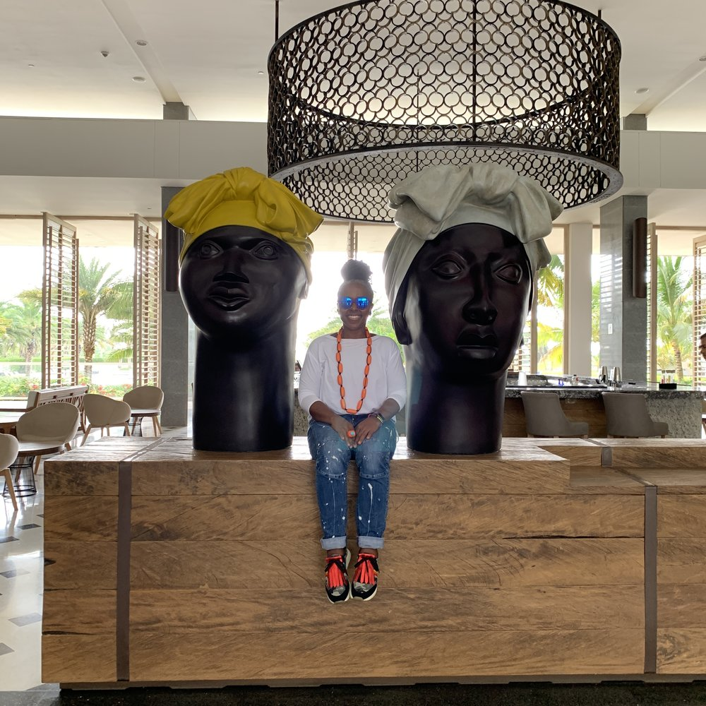 All of the resort's art is by Colombians. And these busts of  palanqueras  (black women from a town south of Cartagena), which have pride of place in the lobby, were my favorite pieces.