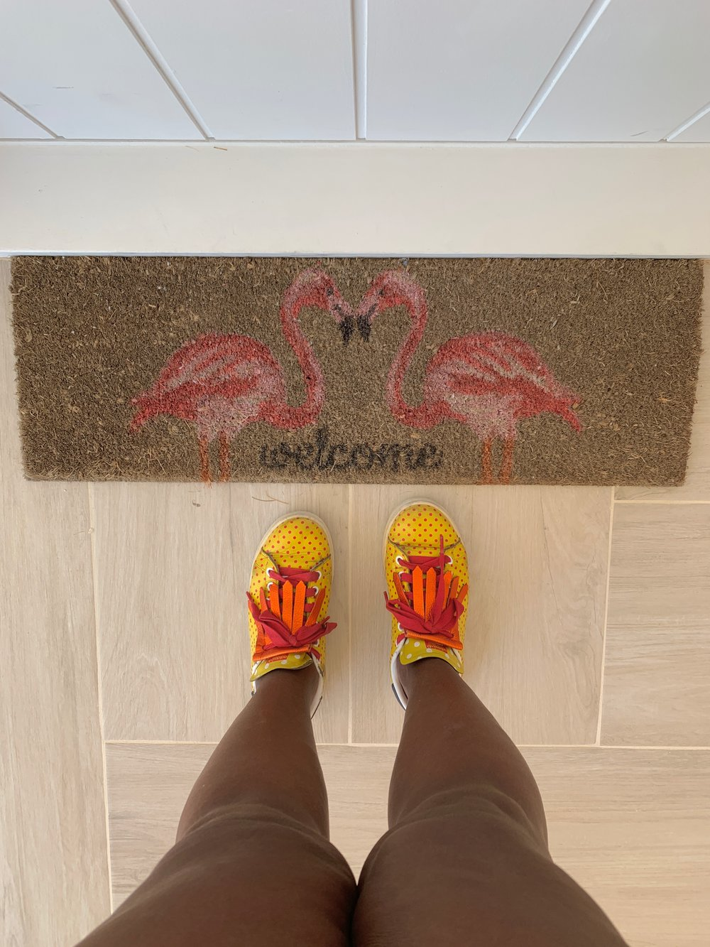 Is it weird that I obsessed over this petite doormat?