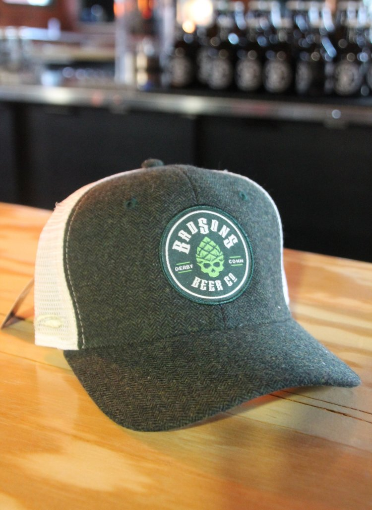 BAD SONS Winter Green   White Trucker Hat — BAD SONS Beer Company cc1a628e15f