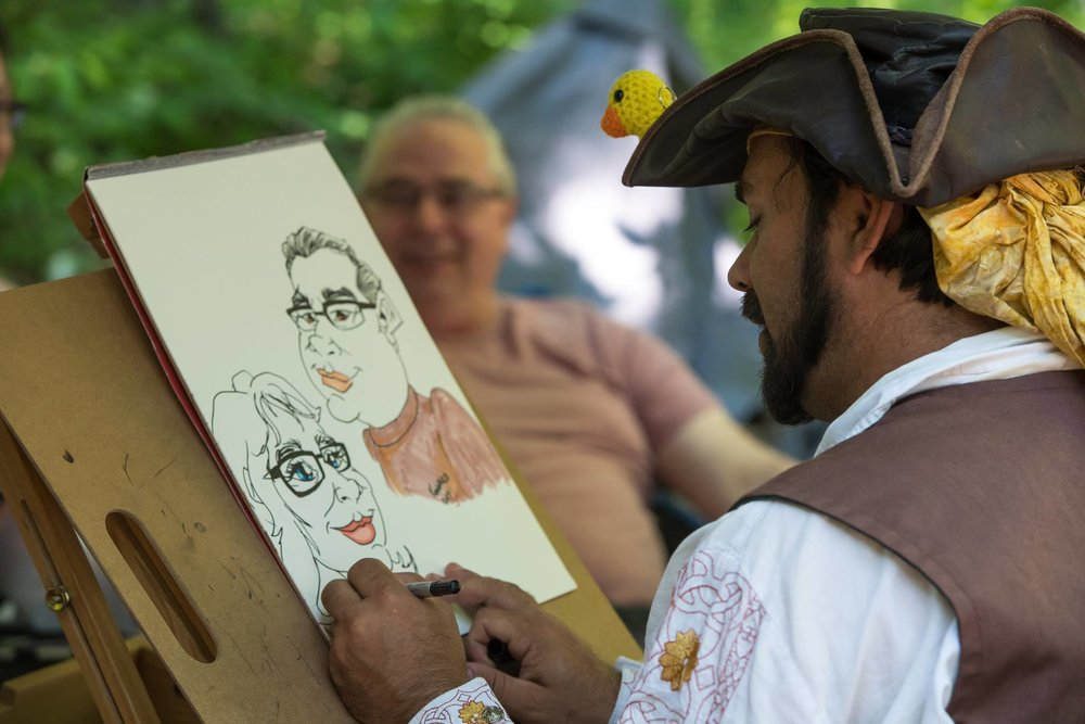 Artists at the Door County Renaissance Faire