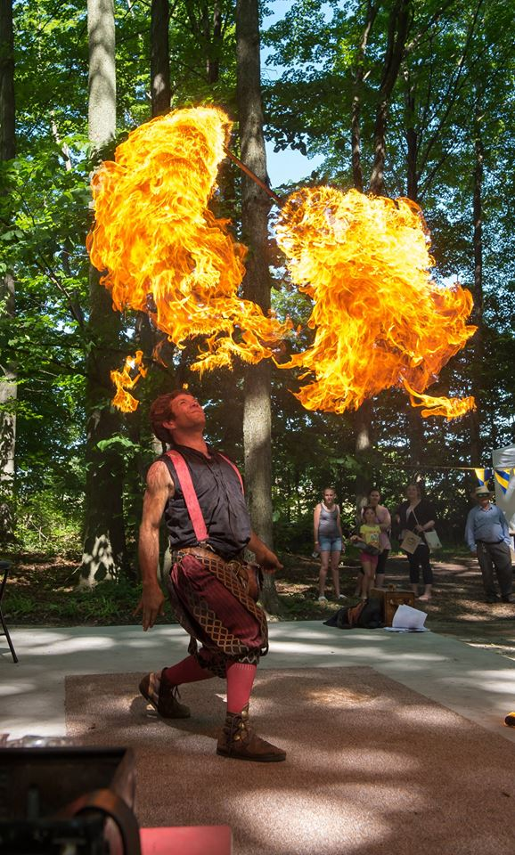 Fire performers at the Door County Renaissance Faire