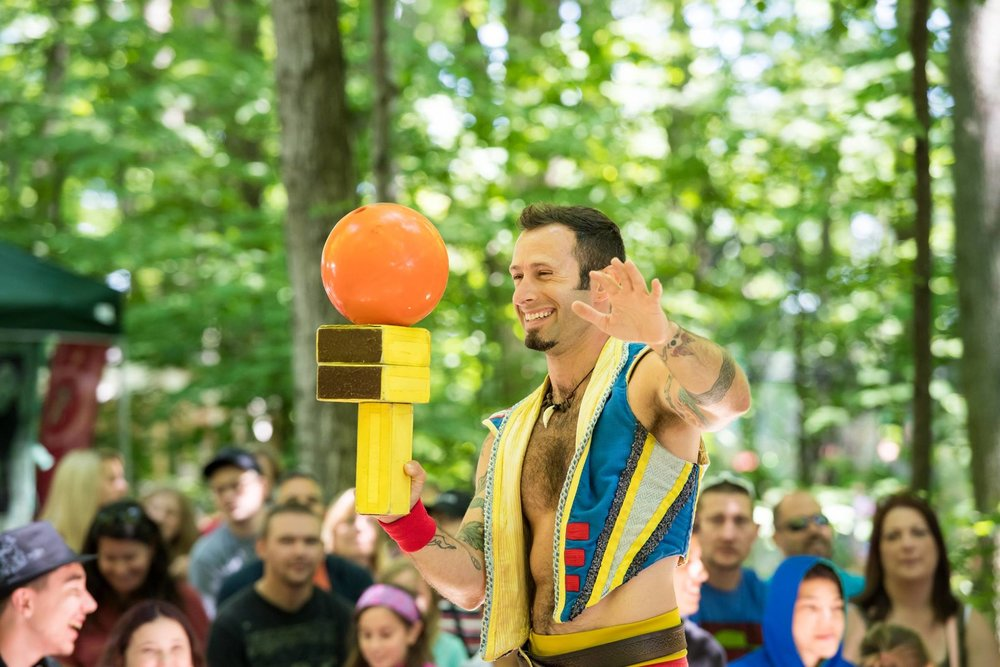 Circus arts at the Door County Renaissance Faire
