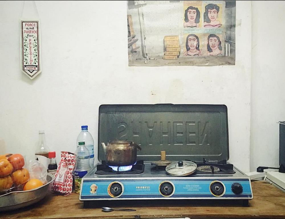 My kitchen in the Old City of Jerusalem