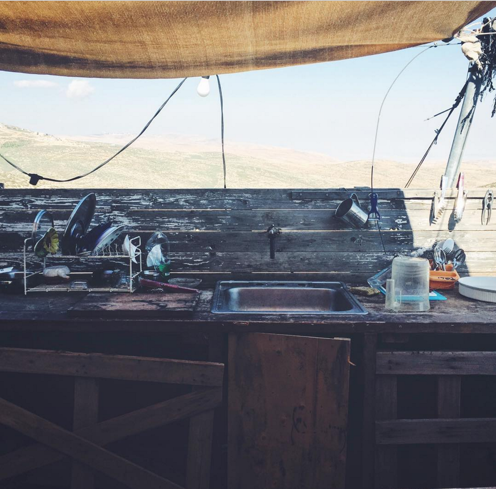 DIY space in Neve Erez, illegal outpost in the West Bank