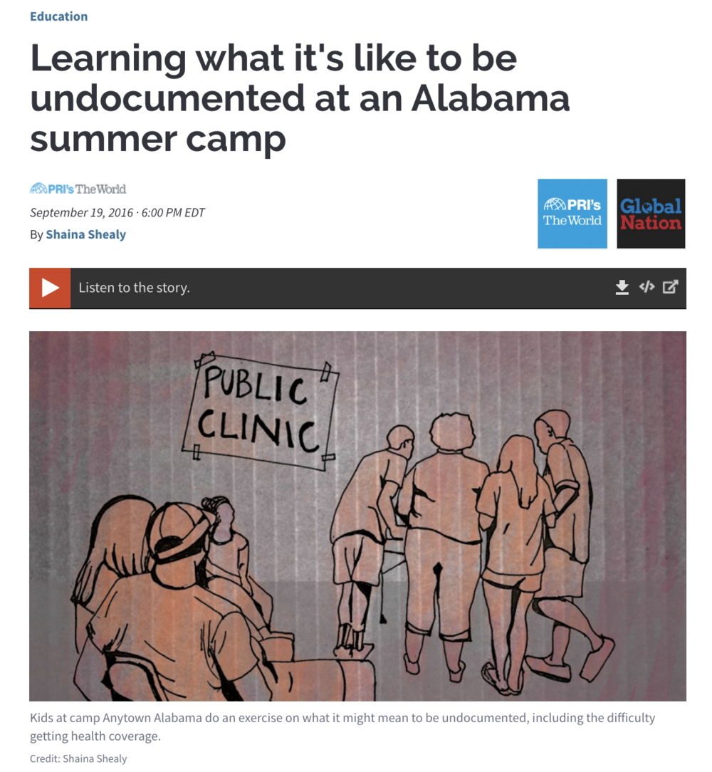 Learning what it's like to be undocumented at an Alabama summer camp