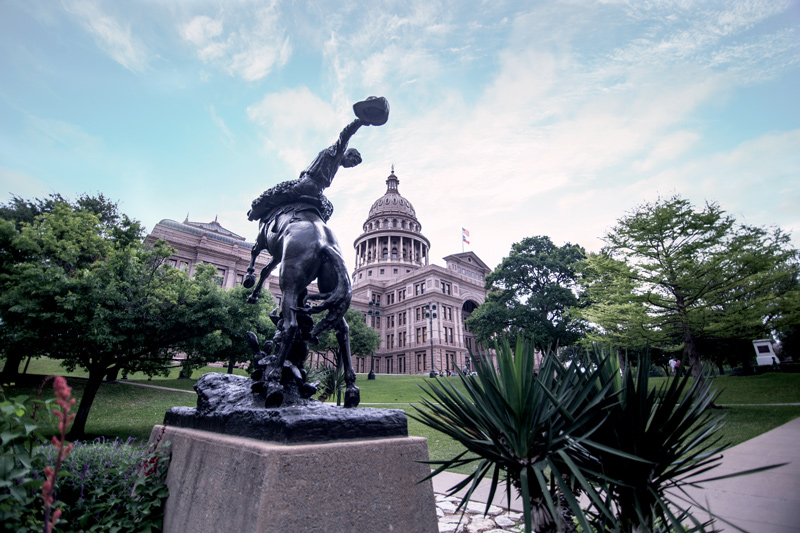 Texas Capitol Statue - Texas Silver Round Inspiration