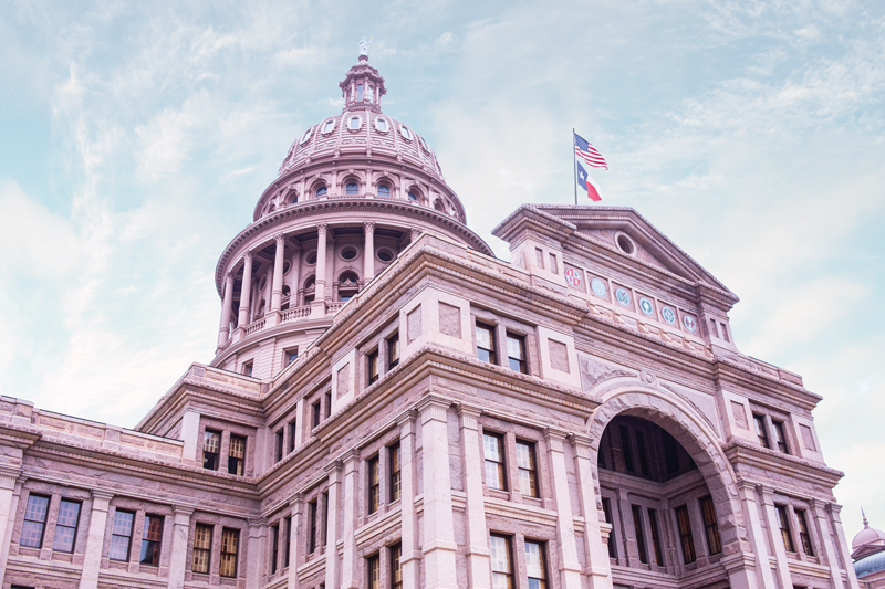 Texas Capitol Building - Texas Gold Round Inspiration
