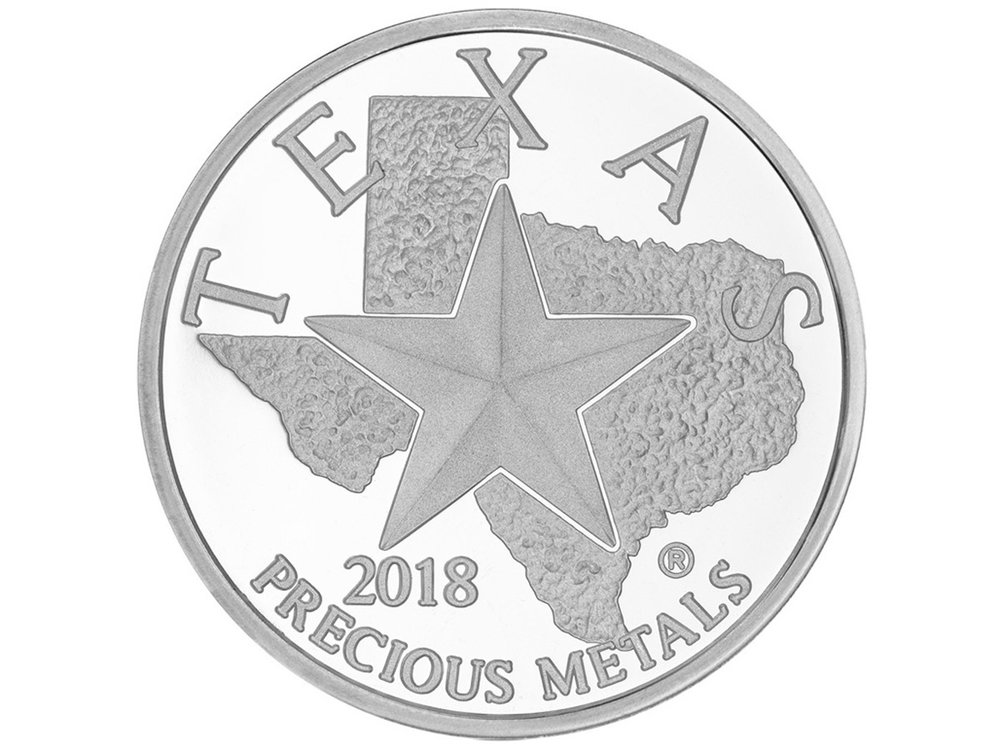Texas Silver Round - Front