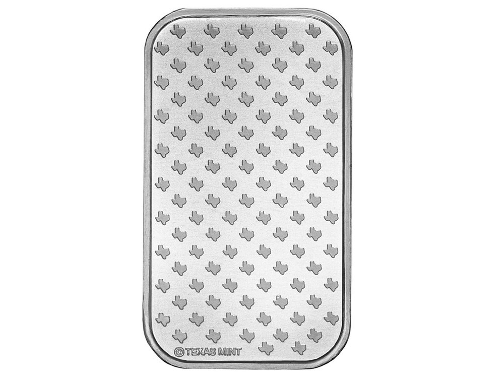 1 oz Silver Bar - Back