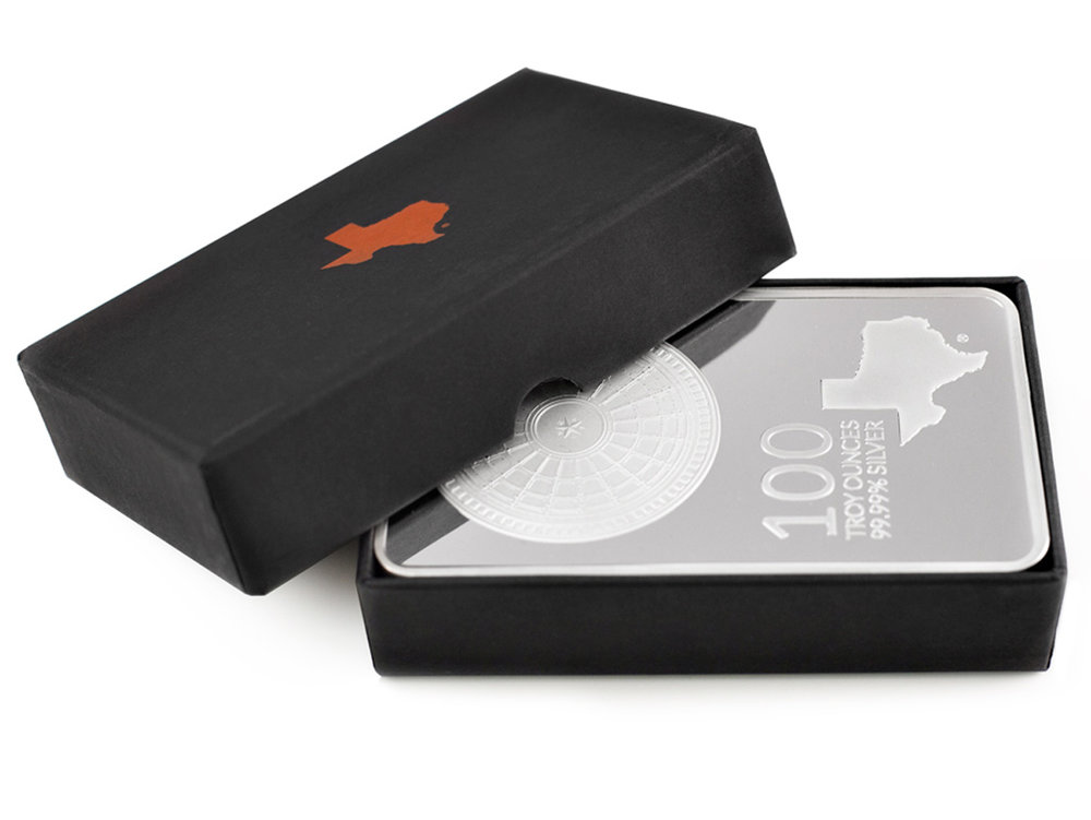100 oz Silver Bar In Box