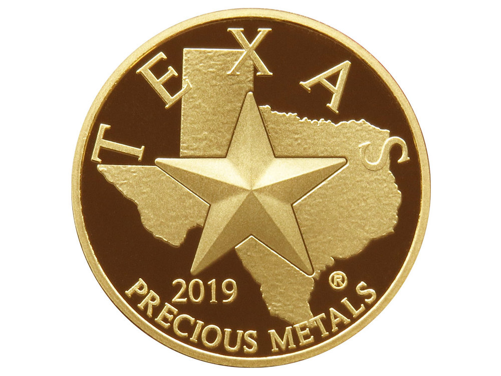 Texas Gold Round - Front