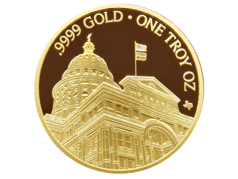 Texas Gold Round - Back