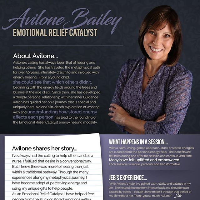 Saturday, July 29th – Private Healing Sessions w/Avilone Bailey. Avilone is the founder of the Emotional Relief Catalyst™ energy healing modality.  This modality is a no-touch technique in which the benefits are immediate and continue with time. Through her Inner Guidance, she connects with others on spiritual and emotional levels, and by doing so, is able to navigate and clear unhealthy energies that are the result of traumas and other strong emotional experiences. With a calm, peaceful and loving approach, her clients are relieved of the effects of childhood traumas, hurtful relationships, abusive experiences and toxic emotions. Her clients have been relieved of migraines, chronic back pain, and even past life karma as well as unhealthy behaviors, relationships, thought patterns and beliefs. In addition, she's been a nurse for over 25 years, has a Master's Degree and has conducted classes, presentations and training sessions. 11-3PM #heal #healer #energize #healthy #relief #energy #lightworker #recovery #transcend #uplift #grace #southflorida #westpalmbeach
