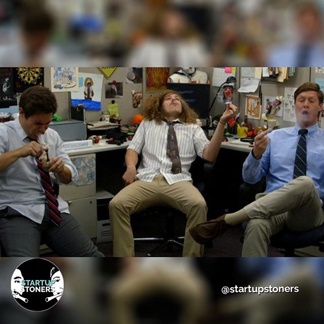 Even #workaholics can have a #toke break. Take a hint from Adam, Blake, and Ders and enjoy work. Just try and stay more productive than they do! #startupstoners
